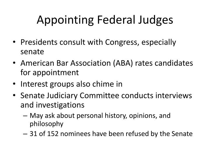 Appointing Federal Judges