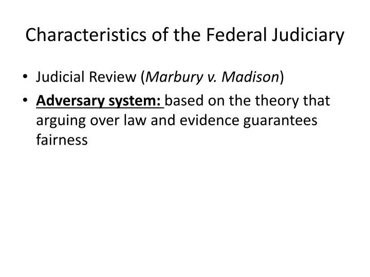 Characteristics of the Federal Judiciary
