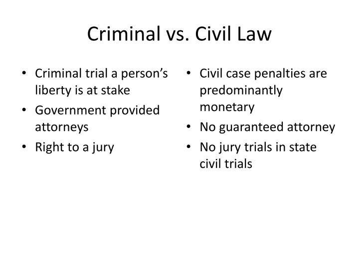 Criminal vs. Civil Law