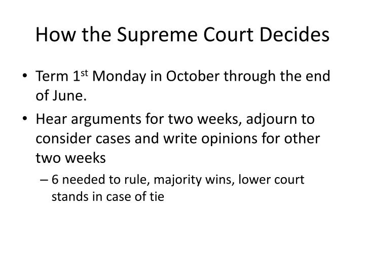How the Supreme Court Decides