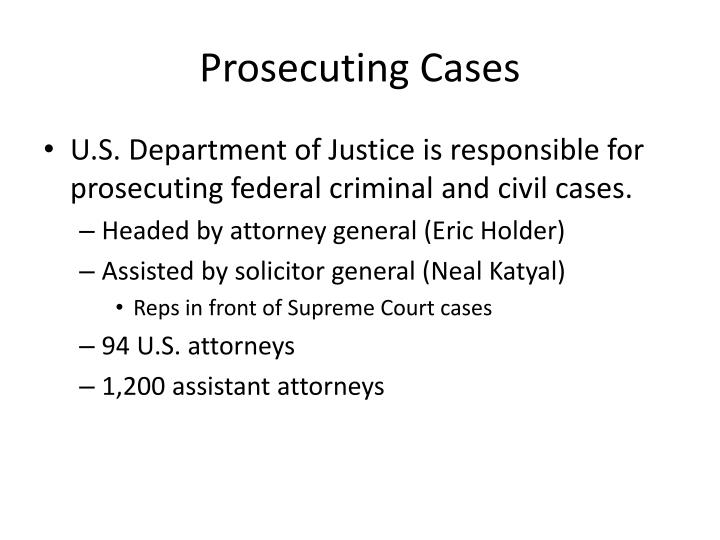 Prosecuting Cases
