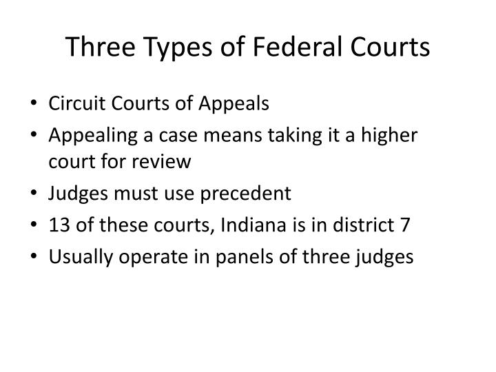 Three Types of Federal Courts