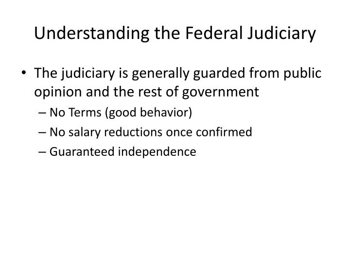 Understanding the Federal Judiciary