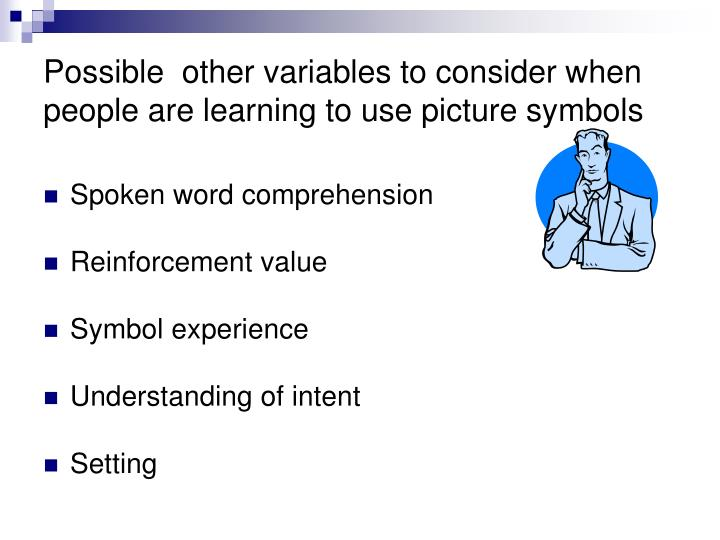 Possible  other variables to consider when