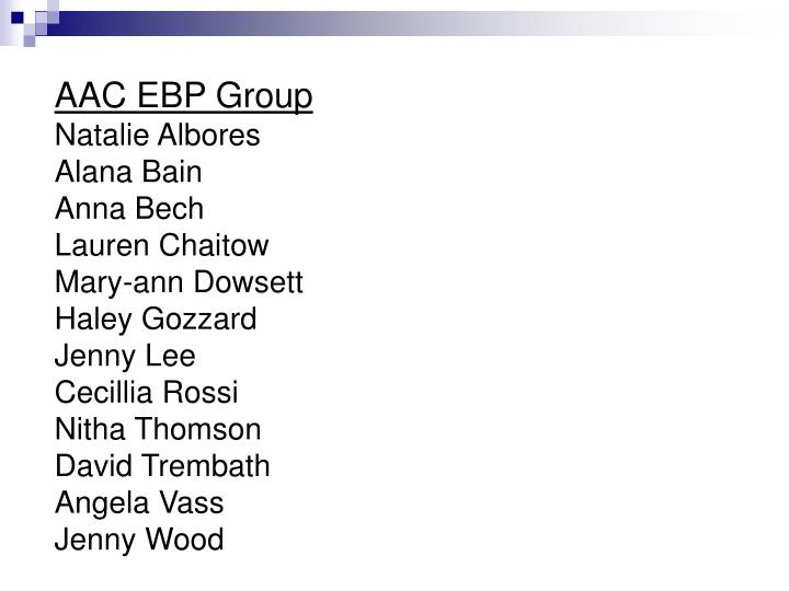 AAC EBP Group