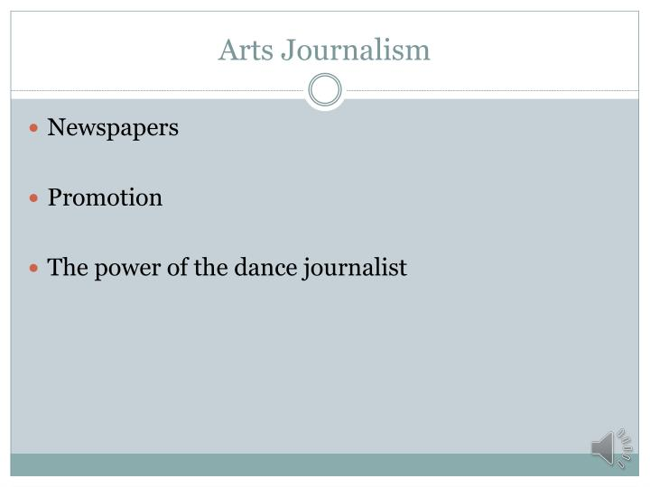 Arts Journalism