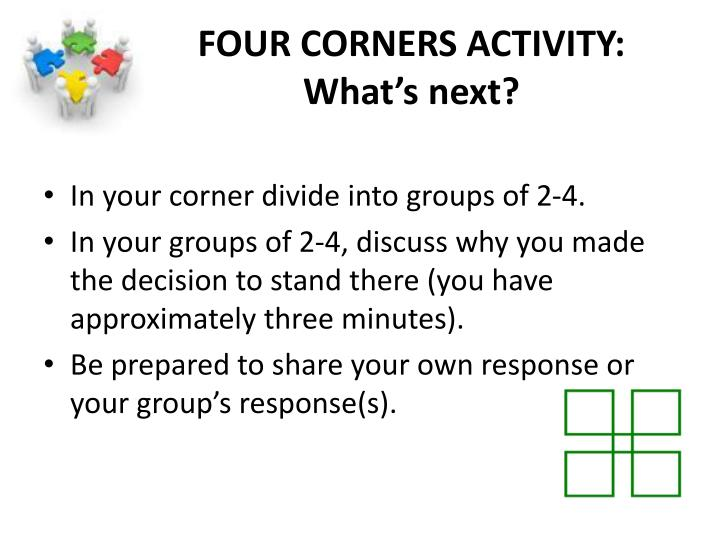 FOUR CORNERS ACTIVITY: