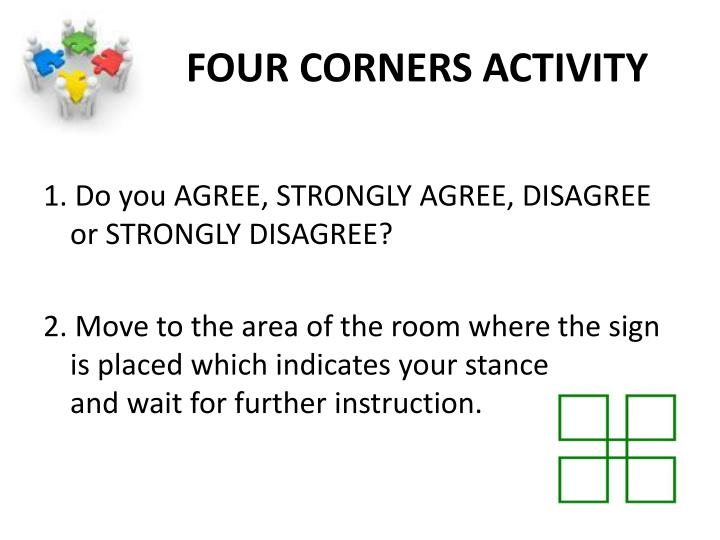 FOUR CORNERS ACTIVITY