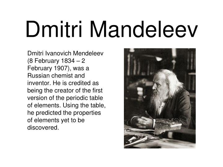 Dmitri Mandeleev