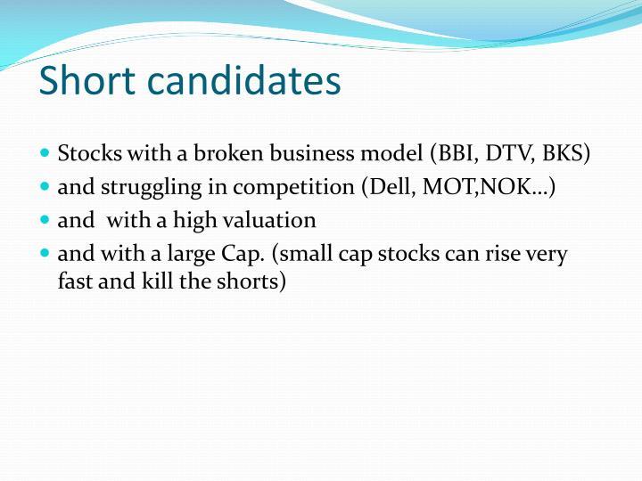 Short candidates