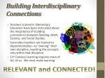 building interdisciplinary connections