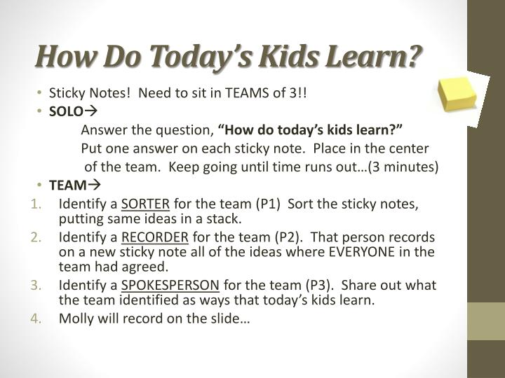 How Do Today's Kids Learn?