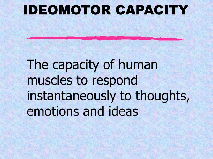 The capacity of human muscles to respond instantaneously to thoughts, emotions and ideas