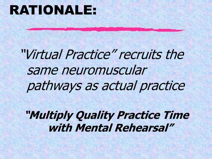 """Virtual Practice"" recruits the same neuromuscular pathways as actual practice"