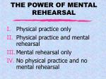 the power of mental rehearsal