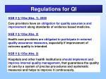 regulations for qi