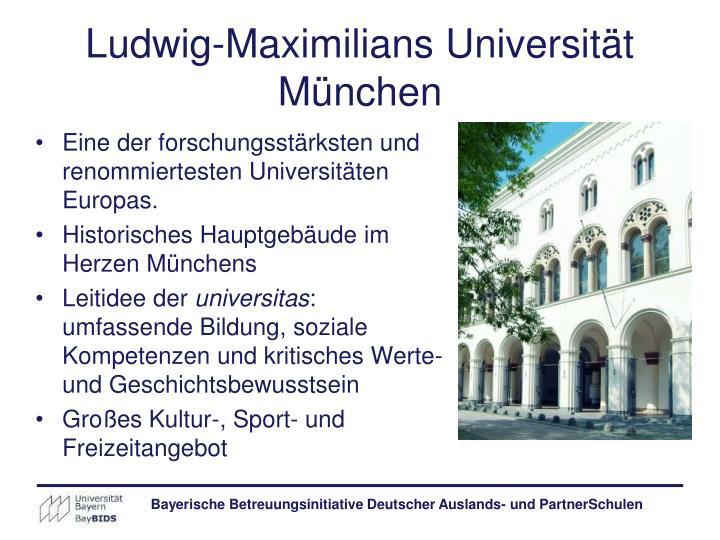 Ludwig-Maximilians Universität München