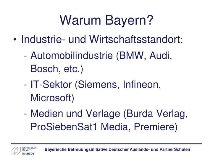 Warum Bayern?