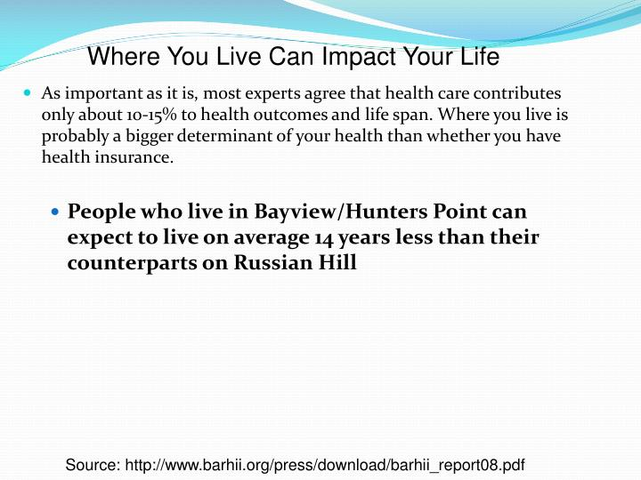 Where You Live Can Impact Your Life