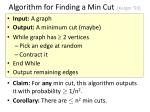 algorithm for finding a min cut karger 93