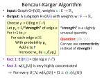benczur karger algorithm