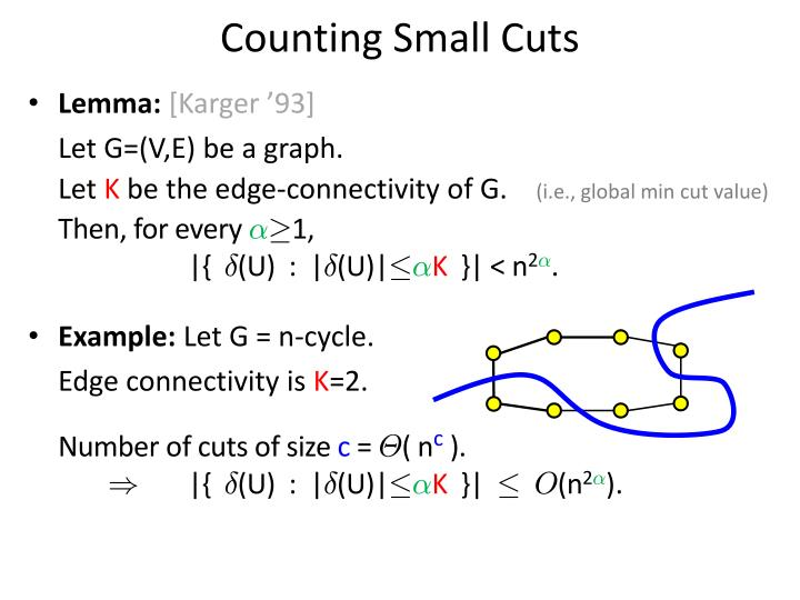 Counting Small Cuts
