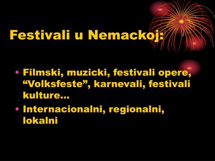 Festivali u Nemackoj: