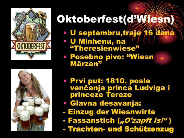 Oktoberfest(d'Wiesn)