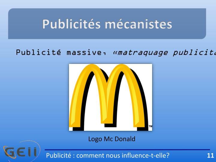 Publicités mécanistes