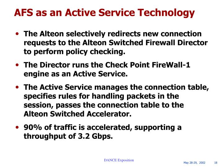 AFS as an Active Service Technology