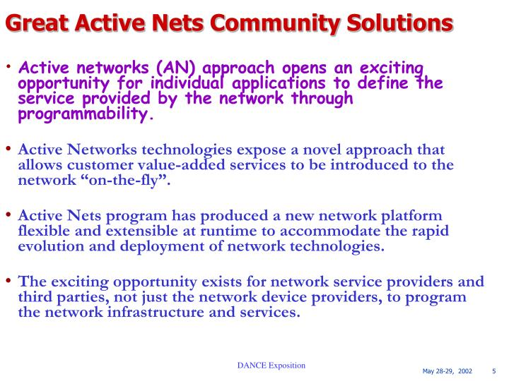 Great Active Nets Community Solutions