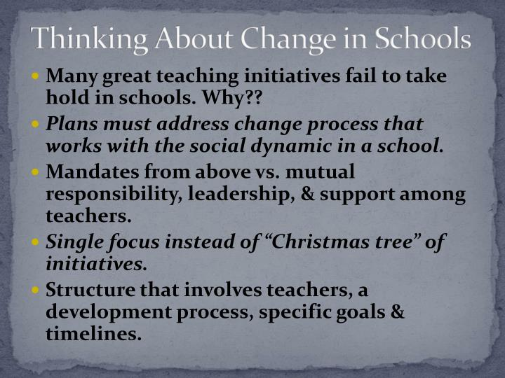 Thinking About Change in School