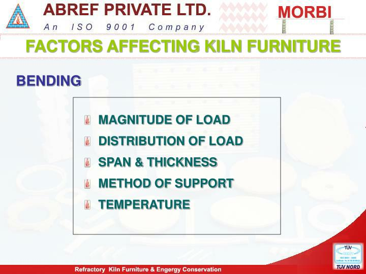 FACTORS AFFECTING KILN FURNITURE