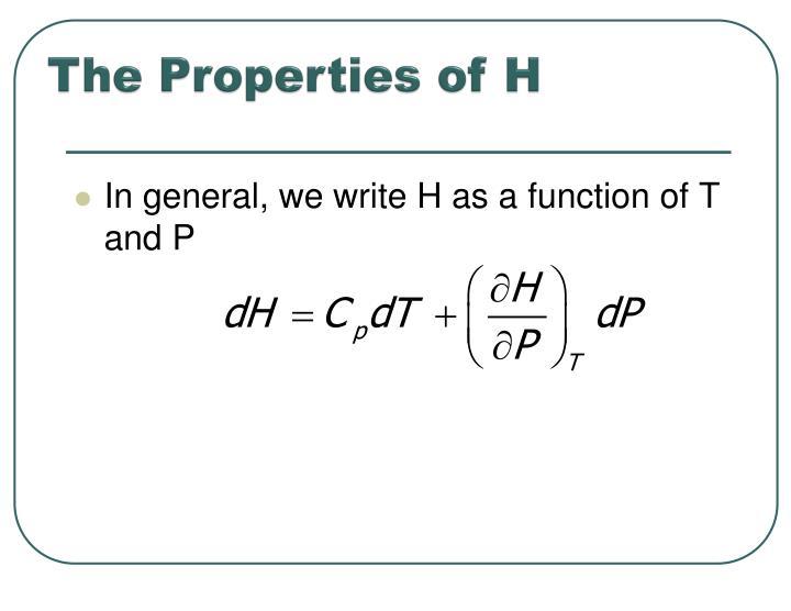 The Properties of