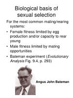 biological basis of sexual selection2