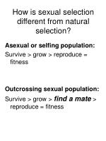 how is sexual selection different from natural selection