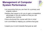 management of computer system performance1