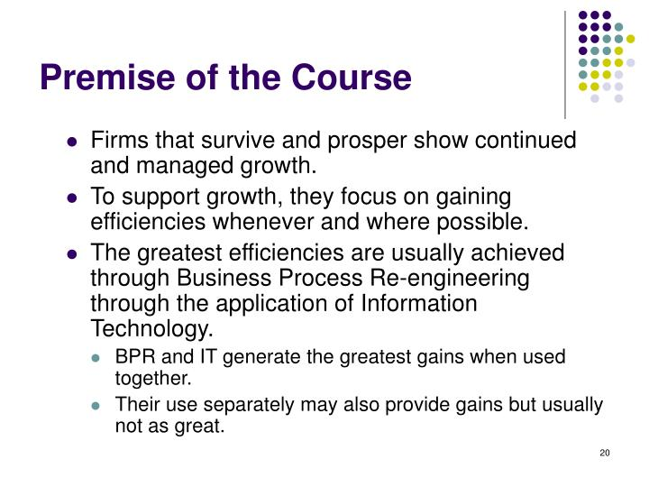 Premise of the Course
