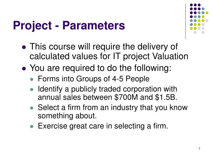 Project - Parameters