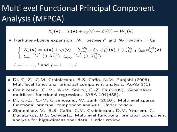 Multilevel Functional Principal Component Analysis (MFPCA)