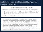 multilevel functional principal component analysis mfpca