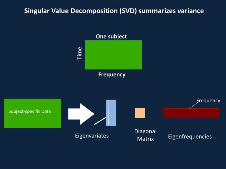 Singular Value Decomposition (SVD) summarizes variance