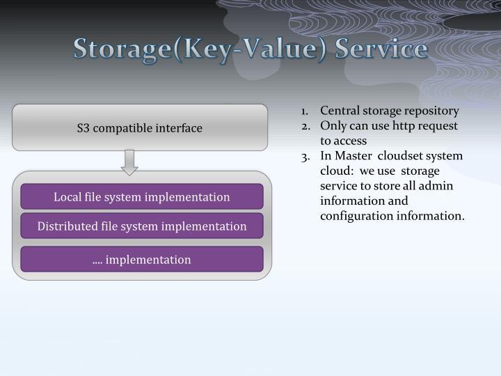 Storage(Key-Value) Service