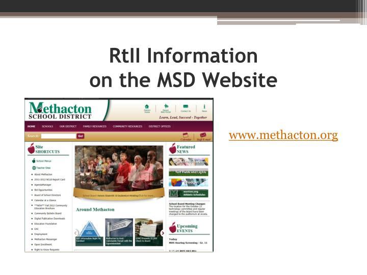 RtII Information