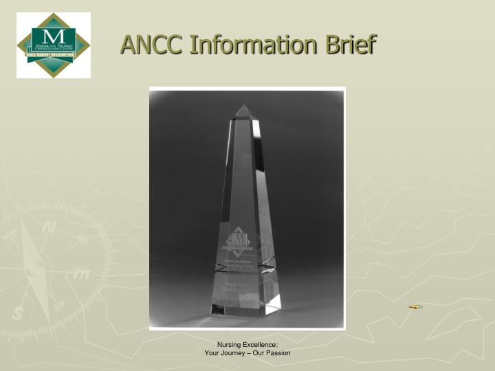 Ancc information brief