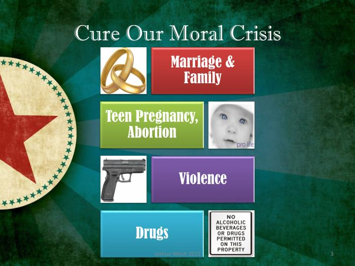 Cure Our Moral Crisis