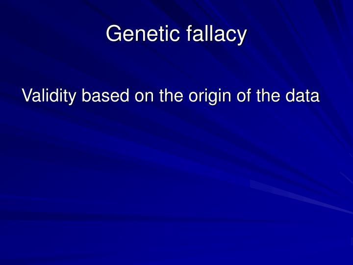 Genetic fallacy