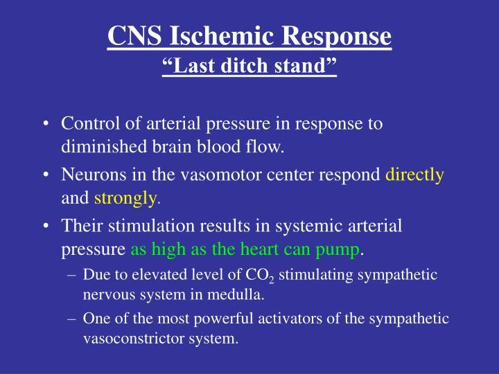 CNS Ischemic Response