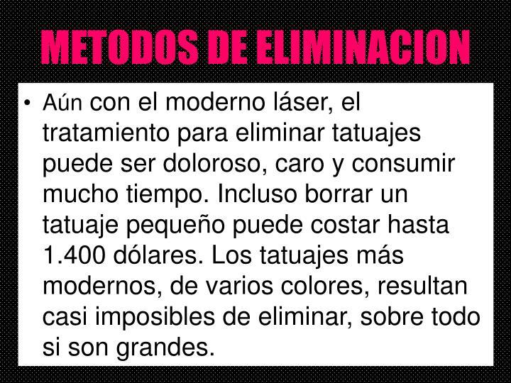 METODOS DE ELIMINACION