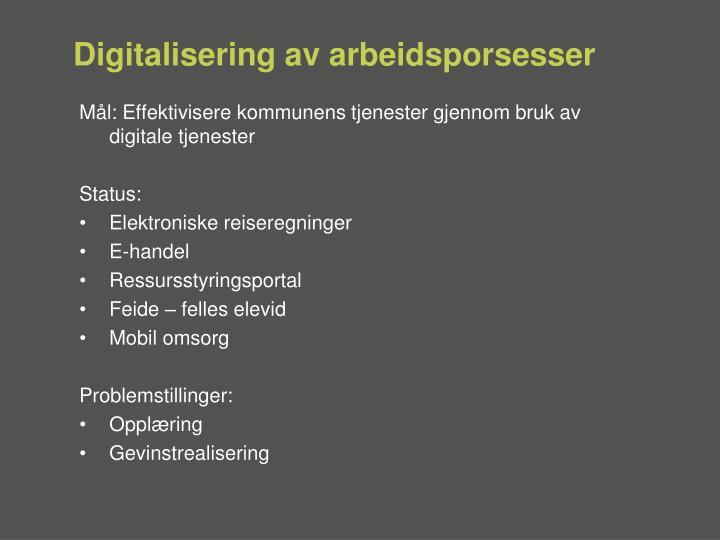 Digitalisering av